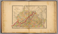 Virginia and West Virginia. Rand, McNally & Co., Engr's., Chicago. Copyright, 1884, by Rand, McNally & Co., Map Publishers, Chicago. (1885)