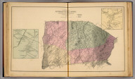 Map of Riverheads Magisterial District, Augusta County, Virginia. By Jed. Hotchkiss, T.E. (with) Plan of Greenville Town ... (with) Plan of Newport Village (Moffett's Creek P.O.) ... (both Riverheads District). 1884 (1885)