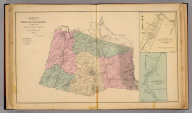 Map of Middle River Magisterial District, Augusta County, Virginia. By Jed. Hotchkiss, T.E. (with) Plan of Mount Sidney Town ... (with) Plan of New Hope Village ... (both) Middle River District. 1884 (1885)