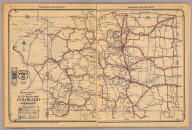 Rand McNally junior auto road map Colorado. Copyright by Rand McNally & Co., Chicago, Ill. (1927)