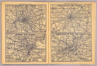 Cincinnati and vicinity. Detroit and vicinity. Indianapolis and vicinity. Minneapolis St. Paul and vicinity. Copyright by Rand McNally & Co., Chicago, Ill. (1927)