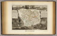 Dept. Du Morbihan. Atlas National Illustre. Region Nord Ouest, No. 55. Geographie et Statistique par V. Levasseur, Ingr. Geographe, Rue de Malte, 24. Grave par A. Piat. Lemercier Impr., Paris. A Paris, chez Combette, Editeur, r. de la Parcheminerie, 15. (1856)