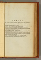 (Errata to) The United States Gazetteer: Containing an Authentic Description of the Several States. Illustrated with Nineteen Maps. By Joseph Scott. Philadelphia: Printed By F. & R. Bailey, at Yorick's Head, No. 116, High Street. 1795. (Published according to Act of Congress.)