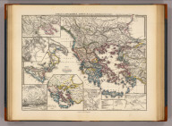 Graecia, Macedonia, Thracia etc. inde a belli Peloponnesiaci tempore. (with) Leuctra. (with) Mantinea. (with) Graecia Darii I et Xerxis I tempore. (with) Plataeae. (with) Marathon. (with) Macedonia. Corr. Menke 1865. Gothae: Justhus Perthes. Spruner-Menke atlas antiquus. (1865)