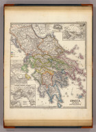 Graecia, Epirus, post bella Persia. (with) Acropolis. (with) Athenae. (with) Athenae, Piraeeus, Salamis. (with Piraeeus, Phalericum, Phalerum). (with) Thermopylae. (with) Delphi. Corr. Menke 1861. Gothae: Justhus Perthes. Spruner-Menke atlas antiquus. (1865)
