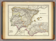 Hispania. (with) Baetica. Corr. M(enke) 1861. Gothae: Justhus Perthes. Spruner-Menke atlas antiquus. (1865)