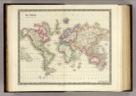 The World on Mercators Projection. London: Published by Henry Teesdale & Co. Drawn & Engraved by J. Dower, Pentonville, London. (1844)