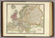 Europe. London: Published by Henry Teesdale & Co. Drawn & Engraved by J. Dower, Pentonville, London. (1844)