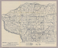 Section 4. Bicycle Road Map of Wisconsin. Published by Wisconsin Division, League of American Wheelmen. (Grant, Iowa and Lafayette counties). Copyright 1897 by M.C. Rotier.