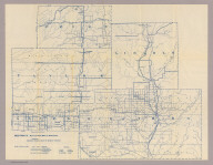 Section 9. Bicycle Road Map of Wisconsin. Published by Wisconsin Division, League of American Wheelmen. (Price, Taylor, Lincoln, Clark, and Marathon counties). Copyright 1897 by M.C. Rotier.