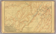 The Chattanooga Campaign of August and September 1863, enlarged from a map compiled in 1865, by C.S. Mergell, under the direction of Col. W.E. Merrill, 1st U.S. V.V. Eng'rs, and published by the Chief of Engineers of the Army in 1874. Drawn by J. von Glumer. Positions of troops located in 1891 by Captain S.C. Kellogg, 5th Cavalry. Julius Bien & Co. lith. (Washington, D.C.: U.S. Government Printing Office, 1891)