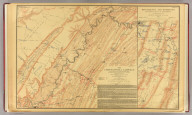 The Chattanooga Campaign of August and September 1863, enlarged from a map compiled in 1865, by C.S. Mergell, under the direction of Col. W.E. Merrill, 1st U.S. V.V. Eng'rs, and published by the Chief of Engineers of the Army in 1874. Drawn by J. von Glumer. Positions of troops located in 1891 by Captain S.C. Kellogg, 5th Cavalry. Movements and positions preceding Battle of Chickamauga, locations made by Captain S.C. Kellogg, 5th Cavalry, 1891. Julius Bien & Co. lith. (Washington, D.C.: U.S. Government Printing Office, 1891)