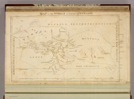 Map of the World According to Strabo (1814). Bye, J., engraver.