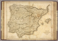 Spain and Portugal. Drawn and Engraved for Dr. Playfair's Geography. N. Coltman delt. Vauxhall (London). B. Smith, sculpt., Walworth (London, 1814)