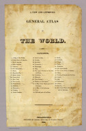 (Title Page to) A new and approved general atlas of the World. Philadelphia: Published by Robert Desilver, 110 Walnut Street. 1822.