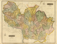 (Composite of) Dumfriesshire, surveyed by Crawford & Son, for the Atlas of Scotland. Engraved by Sid(ne)y Hall. Published by John Thomson, Edinburgh, 1828. (1832)