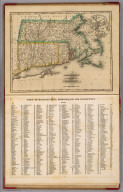 Massachusetts, Rhode-Island and Connecticut. (with) Boston and its vicinity. N. & S.S. Jocelyn Sc. (New-Haven: N. & S.S. Jocelyn. 1823)