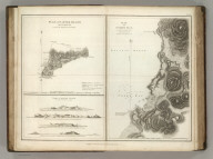 (Two maps and one view). Plan of Easter Island, taken in April 1786, on Board the Boussole & the Astrolabe. Views of Easter Island on a Scale of two Inches to a League. Plan of Cook's Bay on the West Side of Easter Island .... Published as the Act directs Novr. 1st 1798, by G.G. & J. Robinson, Pater-noster Row. Heath Sculpt. No. 10.