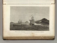 View of the Anchorage of the Vessels, at the Island of Mowee. Published as the Act directs Novr. 1st 1798, by G.G. & J. Robinson, Pater noster Row. Blondela, delint. No. 14.