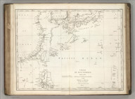 Chart of Discoveries, Made in 1787, in the Seas of China and Tartary, by the Boussole and Astrolabe, from their Leaving Manilla, to their Arrival at Kamtschatka, Sheet 1. Published as the Act directs Novr. 1st 1798, by G.G. & J. Robinson, Pater-noster Row, London. Neele sculpt. Strand. No. 43.