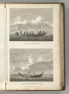 Canoe of Tchotka . Canoe of Easter Island. Published as the Act directs Novr. 1st 1798, by G.G. & J. Robinson, Pater Noster Row, London. Blondela del. Heath sculpt. No. 61.