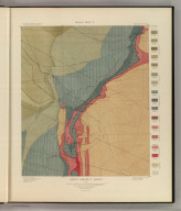 Aspen District Sheet. Geology Sheet VI . U. S. Geological Survey, Charles D. Walcott, Director. Monograph XXXI. A.H. Thompson, Geographer. Morris Bien, Topographer in charge. Triangulation by Morris Bien. Topography by F.F. Grove. Surveyed in 1891. S.F. Emmons, Geologist in charge. Geology by J.E. Spurr. Assistant, G.W. Tower. Julius Bien & Co. Lith. N.Y. (1898)