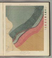 Smuggler Mountain. Geology Sheet XXVII. U. S. Geological Survey, Charles D. Walcott, Director. Monograph XXXI. A.H. Thompson, Geographer. Morris Bien, Topographer in charge. Triangulation by Morris Bien. Topography by F.F. Grove. Surveyed in 1891. S.F. Emmons, Geologist in charge. Geology by J.E. Spurr. Assistant, G.W. Tower. Julius Bien & Co. Lith. N.Y. (1898)