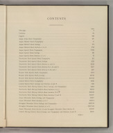 (Table of Contents to) Department Of The Interior, United States Geological Survey, Charles D. Walcott, Director. Atlas To Accompany Monograph XXXI On The Geology Of The Aspen District Colorado By Josiah Edward Spurr, Samuel Franklin Emmons, Geologist In Charge. Washington 1898. Julius Bien & Co. Lith. N.Y.