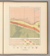 Detailed Geology Sheet XV. (T 48 N, R 29 W, SE Quarter). Julius Bien & Co. Lith. N.Y.