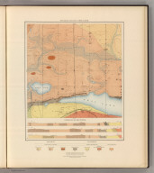 Detailed Geology Sheet XXVII. (T 48 N, R 27 W, SE Quarter). Julius Bien & Co. Lith. N.Y.