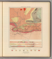 Detailed Geology Sheet XXXII. (T 47 N, R 26 W, SW Quarter). Julius Bien & Co. Lith. N.Y.