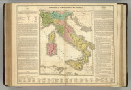Geographical and Statistical Map of Italy. Map of the Italy, Including the Places Rendered Celebrated by Battles & Sieges, Intended for the Elucidation of Lavoise's Historical Atlas. 1820. No. 52. Philadelphia. Published by M. Carey & Son. J. Yeager, Sculpt., 1820 - Printed by T.H. Palmer, for M. Carey & Son, from the London edition of 1817, with corrections and additions.