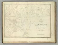 Map of New Orleans and Adjacent Country by John Melish 1815.