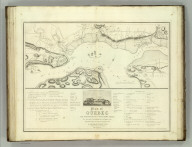 Plan of Quebec and Adjacent Country Shewing the Principal Encampments and Works of the British & French Armies during the Siege by General Wolfe in 1759. Reduced fro the M.S.S. Map of Capt. J.B. Glegg by John Melish. Engd. by H.S. Tanner. (1824)