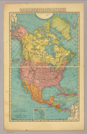 The Rand-McNally New Commercial Atlas Map of North America. Copyright by Rand-McNally & Co. 1912.