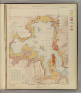 The Shores of Yellowstone Lake. Geology Sheet XXVII. Monograph XXXII. Yellowstone National Park. U.S. Geological Survey. Charles D. Walcott, Director. 1904. Julius Bien & Co. Lith. N.Y. A.H. Thompson, Geographer. Topography by Frank E. Grove, Philip Sawyer under charge of Frank Tweedy. Suveryed in 1889. Arnold Hague, Geologist in charge. Geology by Walter Harvey Weed.