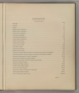 (Table of Contents to) Department Of The Interior, United States Geological Survey, Charles D. Walcott, Director. Atlas To Accompany Monograph XXXII On The Geology Of The Yellowstone National Park, By Arnold Hague. Washington, 1904. Julius Bien & Co. Lith. N.Y.