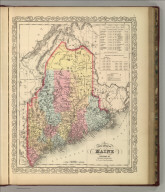 A New Map of Maine. Philadelphia, Published By Charles Desilver, No. 714 Chestnut Street. Entered according to Act of Congress in the year 1856 by Charles Desilver in the Clerk's office if the District Court of the Eastern District of Pennsylvania. 7.