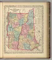 Map of New Hampshire & Vermont. Philadelphia, Published By Charles Desilver, No. 714 Chestnut Street. Entered according to Act of Congress in the year 1856 by Charles Desilver in the Clerk's office if the District Court of the Eastern District of Pennsylvania. 8.