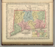 Map of Connecticut. Philadelphia, Published By Charles Desilver, No. 714 Chestnut Street. Entered according to Act of Congress in the year 1856 by Charles Desilver in the Clerk's office if the District Court of the Eastern District of Pennsylvania. 10.