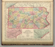 A New Map of Pennsylvania Exhibiting Its Internal Improvements. Roads, Distances, &c. Charles Desilver, No. 714 Chestnut Street. Entered according to Act of Congress in the year 1856 by Charles Desilver in the Clerk's office if the District Court of the Eastern District of Pennsylvania. 13.