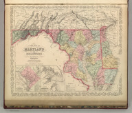 A New Map of Maryland and Delaware by J.L. Hazzard. Published By Charles Desilver, No. 714 Chestnut Street, Philadelphia. Entered according to Act of Congress in the year 1856 by Charles Desilver in the Clerk's office if the District Court of the Eastern District of Pennsylvania. 15.