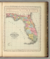 A New Map of the State of Florida. Published By Charles Desilver, No. 714 Chestnut Street, Philadelphia. Entered according to Act of Congress in the year 1856 by Charles Desilver in the Clerk's office if the District Court of the Eastern District of Pennsylvania. 21.