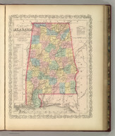 A New Map of Alabama with its Roads & Distances from place to place along Stage and Steam Boat Routes. Published By Charles Desilver, No. 714 Chestnut Street, Philadelphia. Entered according to Act of Congress in the year 1856 by Charles Desilver in the Clerk's office if the District Court of the Eastern District of Pennsylvania. 21.By H.S. Tanner. Entered according to Act of Congress in the 1841 by H.S. Tanner - in the Clerk's Office of the Eastern District of Pennsylvania. 22.