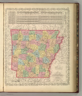 A New Map of Arkansas with its Counties, Towns, Post Offices, &c. Published By Charles Desilver, No. 714 Chestnut Street, Philadelphia. Entered according to Act of Congress in the year 1856 by Charles Desilver in the Clerk's office if the District Court of the Eastern District of Pennsylvania. 26.