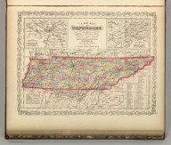 A New Map of Tennessee with its Roads & Distances from place to place along Stage & Steam Boat Routes. Published By Charles Desilver, No. 714 Chestnut Street. Entered according to Act of Congress in the year 1856 by Charles Desilver in the Clerk's office if the District Court of the Eastern District of Pennsylvania. 27.