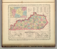 A New Map of Kentucky with its Roads & Distances from place to place along Stage and Steam Boat Routes. Published By Charles Desilver. Entered according to Act of Congress in the year 1856 by Charles Desilver in the Clerk's office if the District Court of the Eastern District of Pennsylvania. 28.