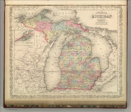 A New Map of Michigan with its Canals, Roads & Distances. Published By Charles Desilver, No. 714 Chestnut Street, Philadelphia. Entered according to Act of Congress in the year 1856 by Charles Desilver in the Clerk's office if the District Court of the Eastern District of Pennsylvania. 30.