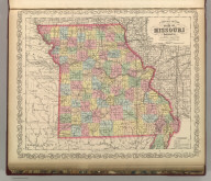 A New Map of the State of Missouri. Published By Charles Desilver, No. 714 Chestnut Street, Philadelphia. Entered according to Act of Congress in the year 1856 by Charles Desilver in the Clerk's office if the District Court of the Eastern District of Pennsylvania. 33.