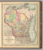 A New Map of the State of Wisconsin. Published By Charles Desilver, No. 714 Chestnut Street, Philadelphia. Eng. by J.L. Hazzard. Entered according to Act of Congress in the year 1856 by Charles Desilver in the Clerk's office if the District Court of the Eastern District of Pennsylvania. 33.